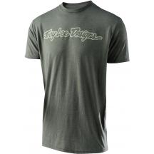 Tricou Troy Lee Designs Signature Tee Dark Green