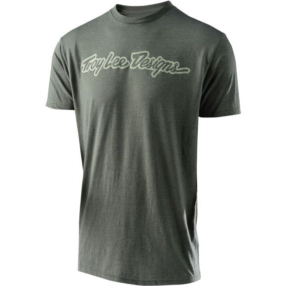 Tricou Troy Lee Designs Signature Tee Dark Green
