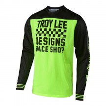 Tricou Bicicleta Troy Lee Designs Gp Air Raceshop Flo Yellow