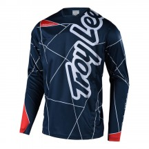 Tricou Bicicleta Troy Lee Designs Sprint Metric Blue Red