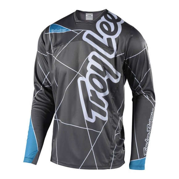 Tricou Bicicleta Troy Lee Designs Sprint Metric Gray Blue