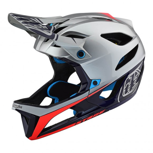 Casca Bicicleta Troy Lee Designs Stage Race Silver / Navy 2019