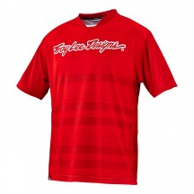 Tricou Bicicleta Troy Lee Designs Skyline Divided Fire Red