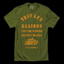 Tricou Troy Lee Designs Fastest Army Green