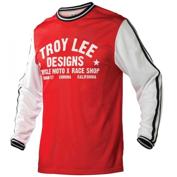 Tricou Bicicleta Troy Lee Designs Super Retro Red