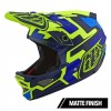 Casca Bicicleta Troy Lee Designs D3 Fiberlite Speedcode Yellow Blue