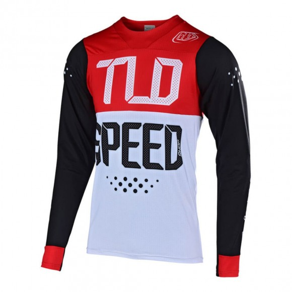 Tricou Bicicleta Troy Lee Designs Skyline Air Black Red