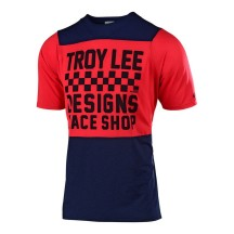Tricou Bicicleta Troy Lee Designs Skyline Checkers Navy / Red