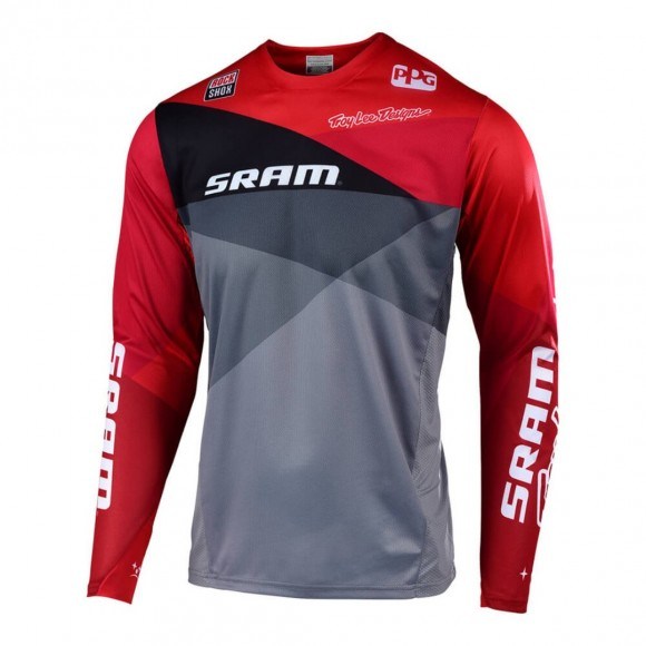 Tricou Bicicleta Troy Lee Designs Sprint Jet Sram Gray Red
