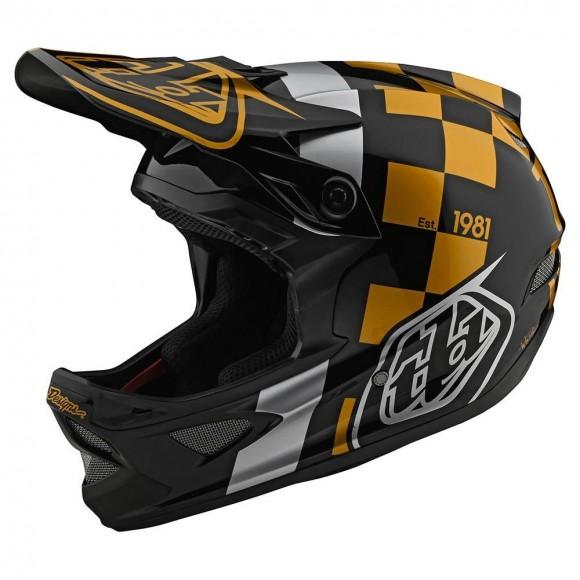 Casca Bicicleta Troy Lee Designs D3 Fiberlite Raceshop Black / Gold 2020