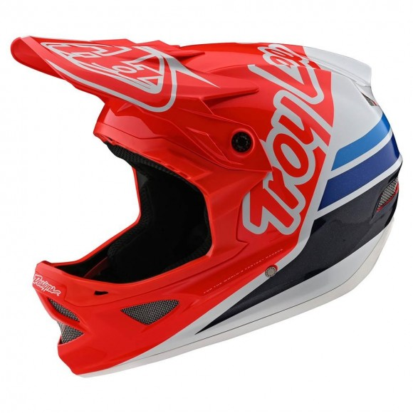 Casca Bicicleta Troy Lee Designs D3 Fiberlite Silhouette Red / White 2020