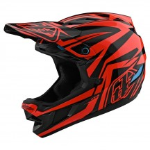 Casca Bicicleta Troy Lee Designs D4 Mips Composite Slash Orange Black 2020