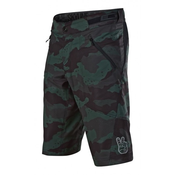 Pantaloni Scurti Bicicleta Troy Lee Designs Skyline Shell Camo Stealth