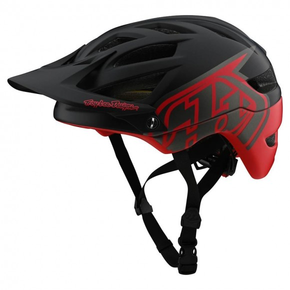 Casca Bicicleta Troy Lee Designs A1 MIPS Classic Black Red 2020