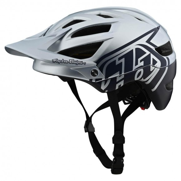 Casca Bicicleta Troy Lee Designs A1 MIPS Classic Silver Navy 2020