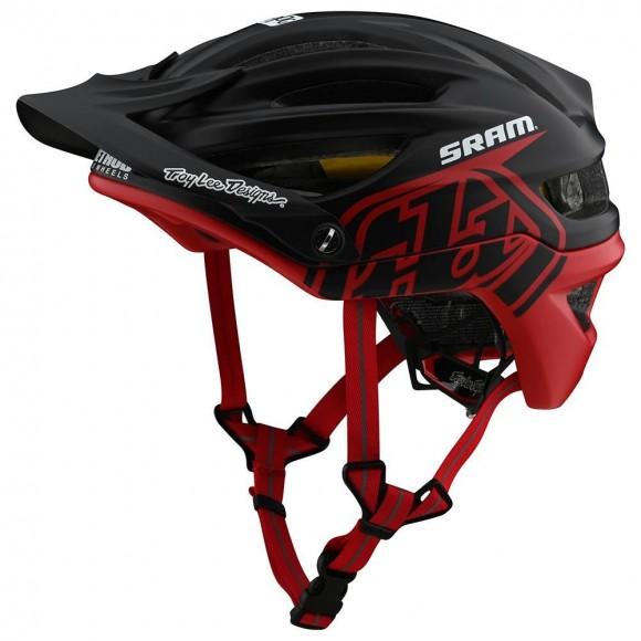 Casca Bicicleta Troy Lee Designs A2 Mips Decoy Sram Black / Red 2020