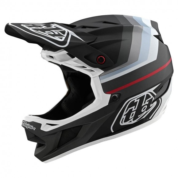 Casca Bicicleta Troy Lee Designs D4 Mips Composite Mirage Black Silver 2020