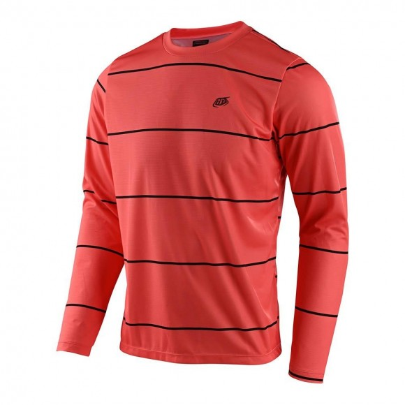 Tricou Bicicleta Troy Lee Designs Flowline Ls Stacked Coral 2021