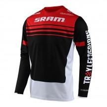 Tricou Bicicleta Troy Lee Designs Sprint Formula Sram Red / Black 2021