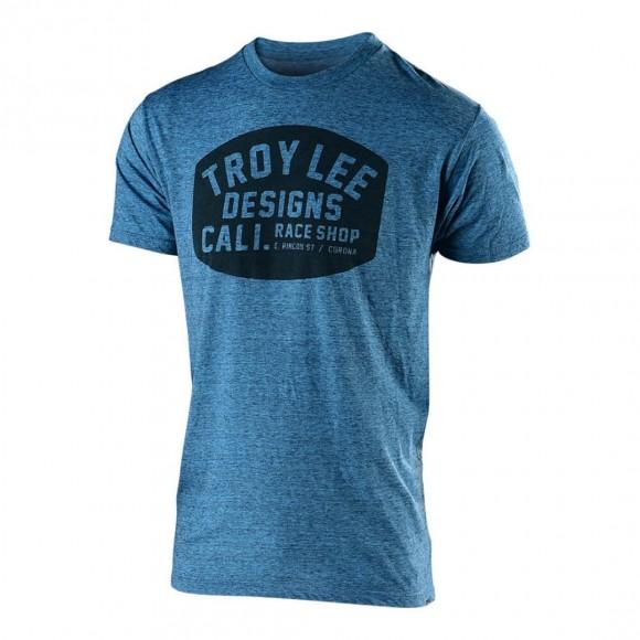 Tricou Troy Lee Designs Blockworks Tahoe Blue