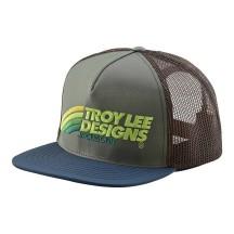 Sapca Troy Lee Designs Velo Green Brown
