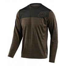 Tricou Bicicleta Troy Lee Designs Flowline Ls Shield Walnut / Charcoal 2020