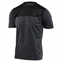 Tricou Bicicleta Troy Lee Designs Flowline Ss Station Heather Black / Black 2020