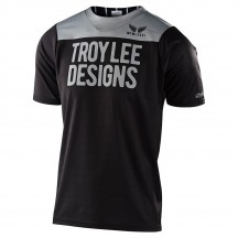 Tricou Bicicleta Troy Lee Designs Skyline Ss Pinstripe Block Black / Gray 2020