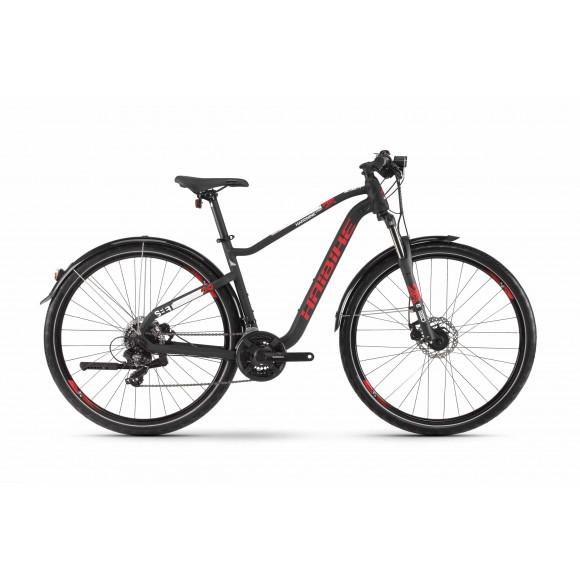 Bicicleta Haibike SEET HardNine 2.5 Street 21 s. Tourney 2020 black/red/white matt