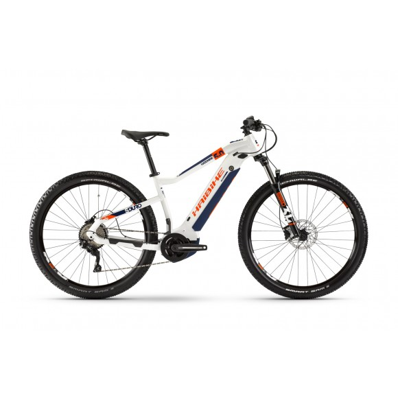 e-bike Haibike SDURO HardNine 5.0 i500Wh 10-G Deore 2020 YSTS white/orange/blue