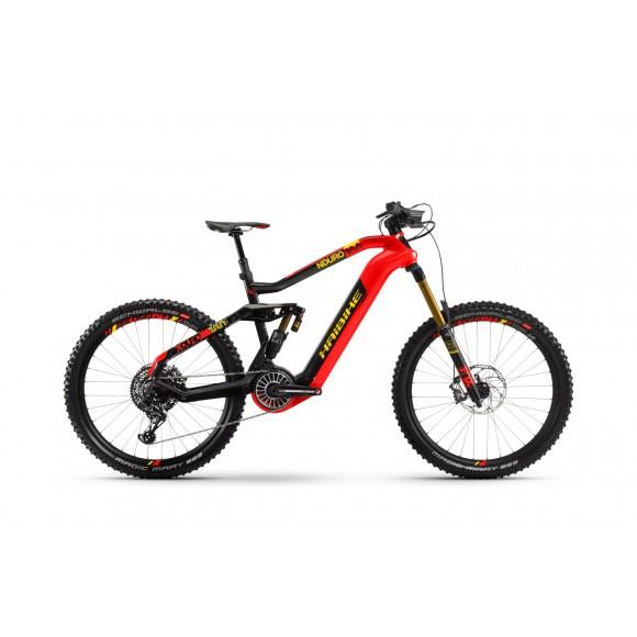 e-bike Haibike XDURO Nduro 10.0 i630Wh 8-G EX1 2020 Flyon red/carbon/yellow
