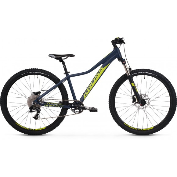Bicicleta Kross Dust JR 2.0 26 navy blue-lime-matte 2020