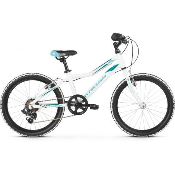 Bicicleta Kross Lea Mini 1.0 20 white-turquise-glossy 2020