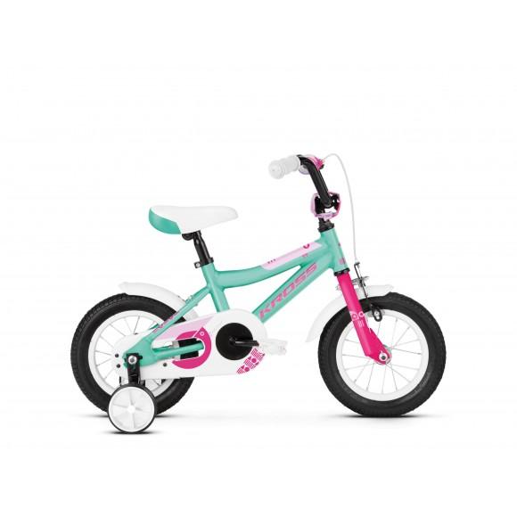 Bicicleta Kross Mini 2.0 12 turquise-pink-glossy 2020