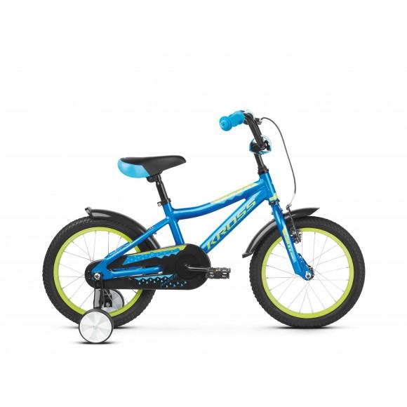 Bicicleta Kross Racer 4.0 blue-lime-glossy 2020
