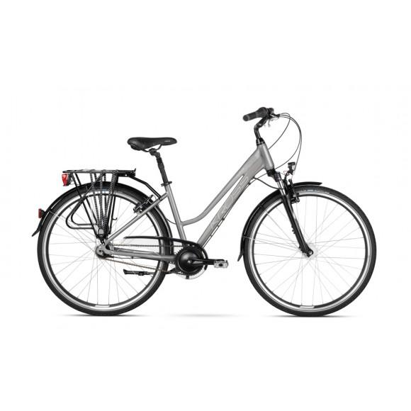 Bicicleta Kross Trans 6.0 28 graphite-silver-glossy 2020