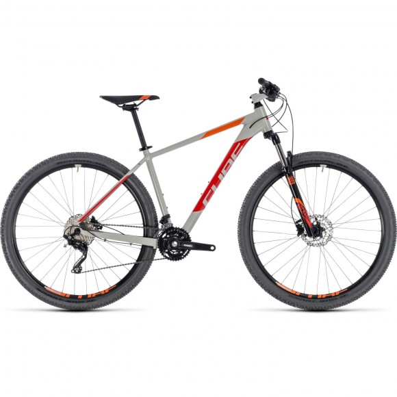 Bicicleta Cube Attention Grey Red 2018