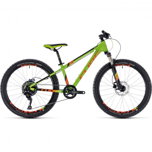 Bicicleta Cube Kid 240 Race Green Orange 2018