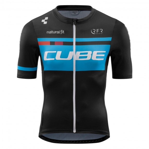 Tricou Ciclism Cube Teamline Jersey Competition S/s Black Blue
