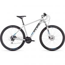 Bicicleta Cube Aim Race White Blue 2019