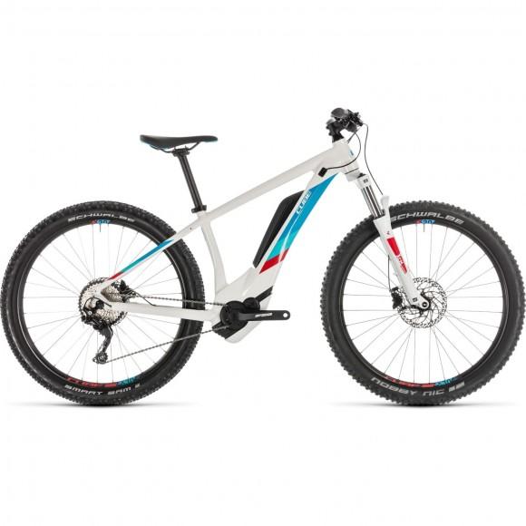 Bicicleta Cube Access Hybrid Pro 500 White Blue 2019