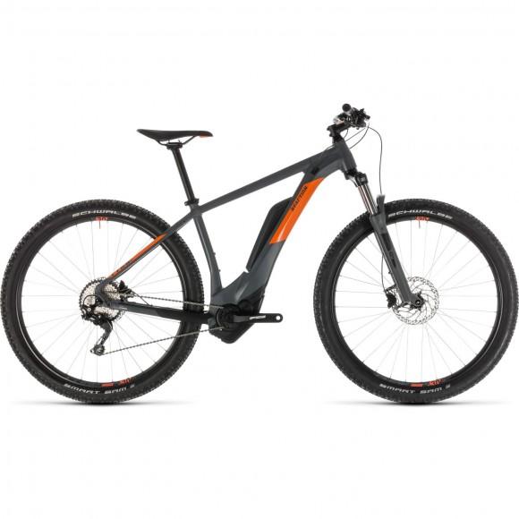 Bicicleta Cube Reaction Hybrid Pro 400 Grey Orange 2019