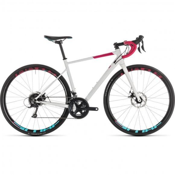Bicicleta Cube Axial Ws Pro Disc White Berry 2019