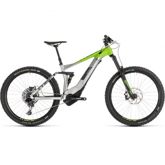 Bicicleta Cube Stereo Hybrid 160 Race 500 27.5 Grey Green 2019
