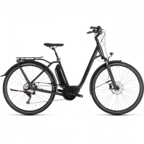Bicicleta Cube Town Sport Hybrid Pro 400 Easy Entry Iridium Black 2019