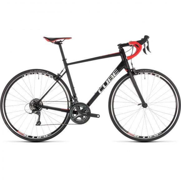 Bicicleta Cube Attain Black Red 2019