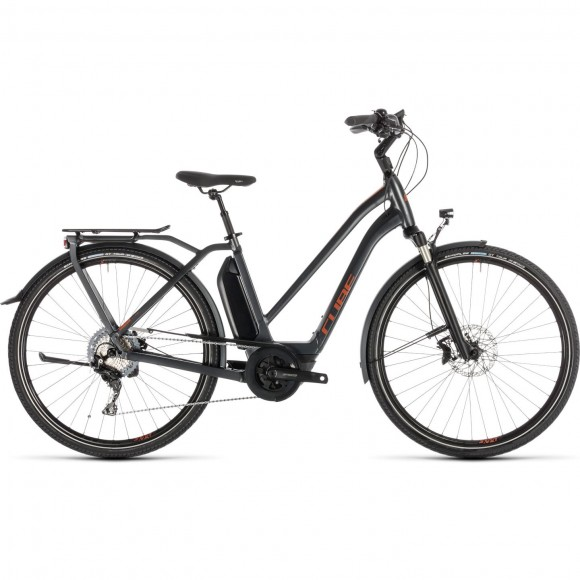 Bicicleta Cube Town Sport Hybrid Exc 500 Trapeze Iridium Copper 2019