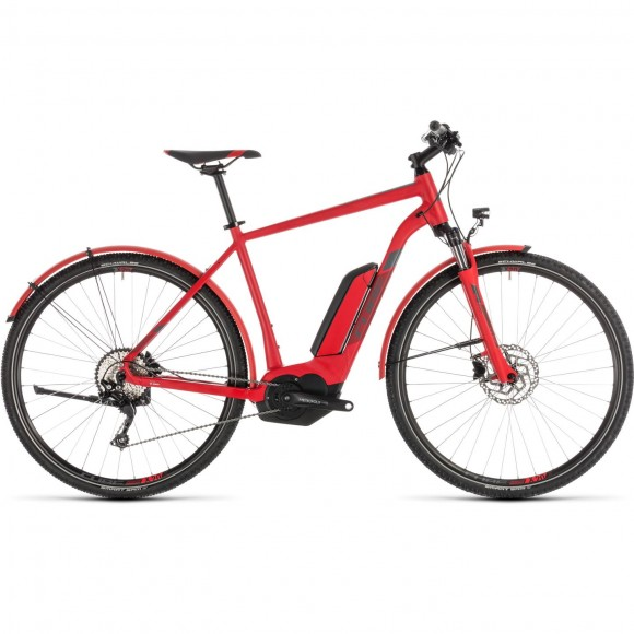 Bicicleta Cube Cross Hybrid Pro 500 Allroad Red Grey 2019