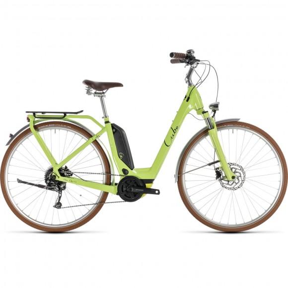 Bicicleta Cube Elly Ride Hybrid 500 Easy Entry Green Black 2019