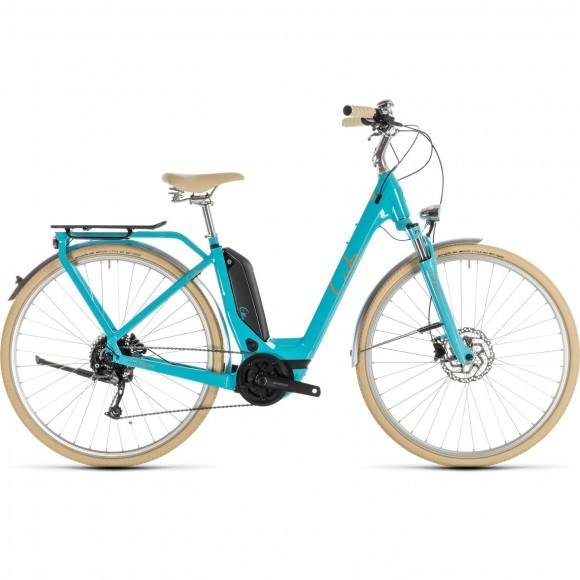 Bicicleta Cube Elly Ride Hybrid 400 Easy Entry Aqua Orange 2019